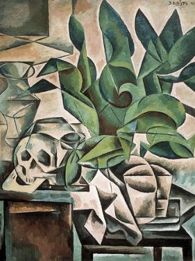 Still Life with Skull by Bohumil Kubista