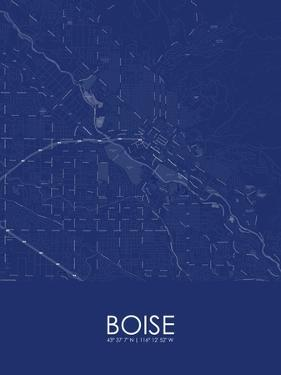 Boise, United States of America Blue Map