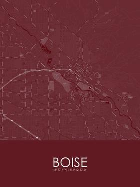 Boise, United States of America Red Map