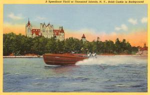 Boldt Castle, Speedboat, Thousand Islands, New York