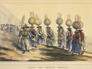 Bolivia, Aymaras Indian Dance by Emile Lassalle from Alcide Dessalines D'Orbigny Journey, 1833