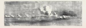 Bombardment of Kinburn, Village on Fire, Sketched by an Officer of the Expedition