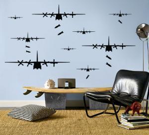 Bomber Airplanes - Black