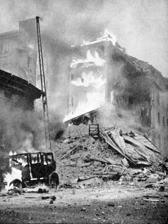 Bombing of Helsinki by the Russians, World War 2, C1940