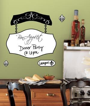 Bon Appetit Dry Erase Peel & Stick Giant Wall Decals