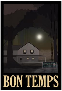 Bon Temps Retro Travel Poster