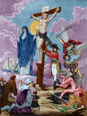 Bonaparte, Restorer of Religion and Supporting the Cross, Allegory on the Concordat, 1802