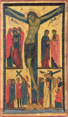 The Crucifixion with Holy Women, Mourners, Christ on the Road to Calvary and the Deposition, Right