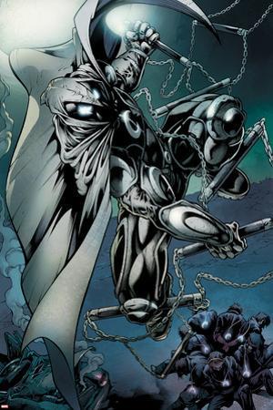 Shadowland: Moon Knight No.1: Moon Knight Fighting by Bong Dazo