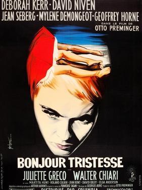 Bonjour Tristesse, French poster art, Jean Seberg, 1958