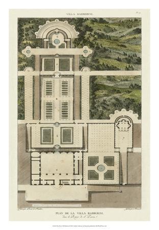 Plan De La Villa Barberini