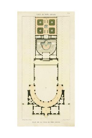 Plan de la Villa di Papa Guilio