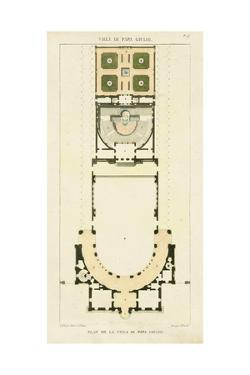 Plan de la Villa di Papa Guilio by Bonnard