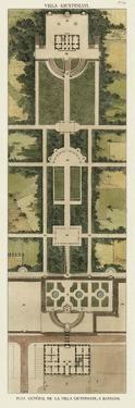 Plan De La Villa Giustiniani by Bonnard