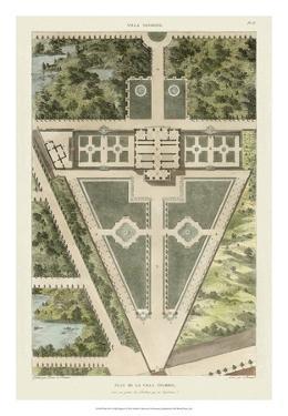 Plan De La Villa Negroni by Bonnard