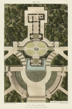 Plan De La Villa Pia by Bonnard