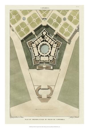 Plan Du Palais De Caprarola