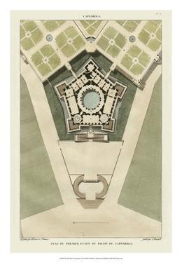Plan Du Palais De Caprarola by Bonnard