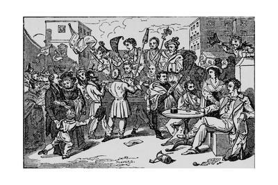 'A Mock Election in the King's Bench Prison', c1828, (1912)