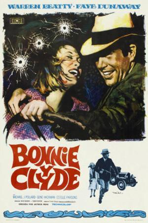 Bonnie and Clyde, Spanish Movie Poster, 1967
