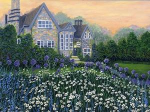 English Cottage lg by Bonnie B. Cook