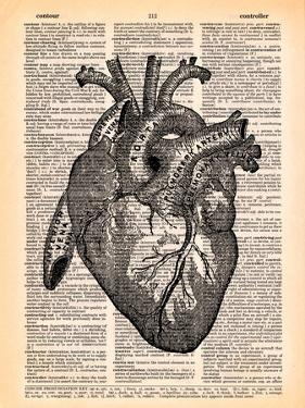 Heart by Book Dictionary Art