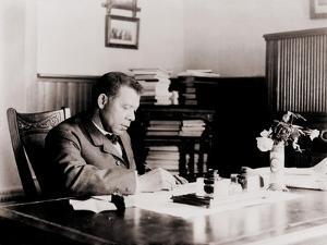 Booker T. Washington, Writing at His Desk