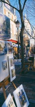 Books at a Stall with Basilique Du Sacre Coeur in the Background, Paris, France