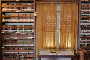 Books in a library, Tel Aviv, Israel