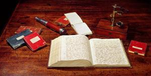 Books on Charles Darwin's Desk
