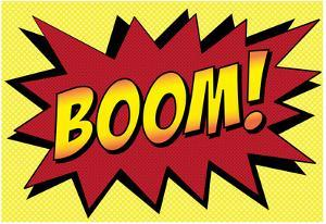 Boom! Comic Pop-Art Art Print Poster