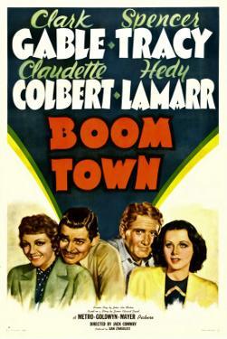 Boom Town, Claudette Colbert, Clark Gable, Spencer Tracy, Hedy Lamrr, 1940