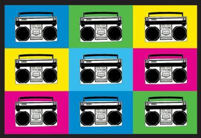 Boombox Stereos 2 Pop Art Print Poster