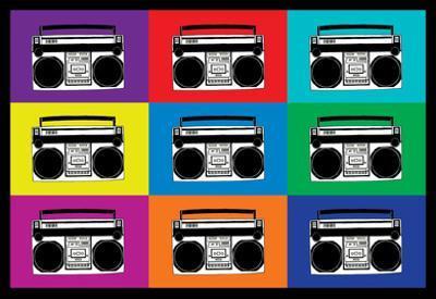 Boombox Stereos Pop Art Poster