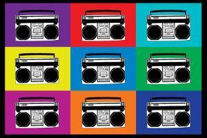 Boombox Stereos Pop Art Print Poster