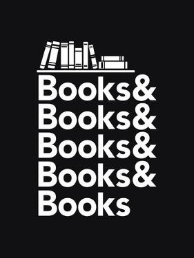 Books - Book Nerd Helvetica Typography by Boots