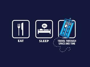 Eat, Sleep, Who - Geek Slogan by Boots