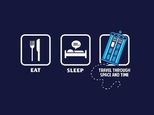 Eat, Sleep, Who - Geek Slogan by Boots