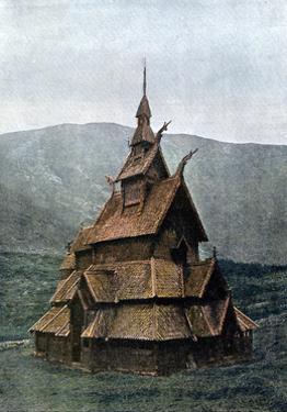 Borgund Stave Church, Sogn Og Fjordane, Norway, C1890 by L Boulanger
