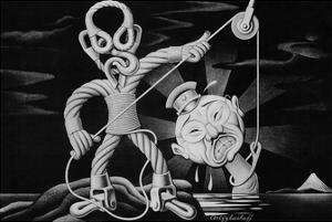 Boris Artzybasheff Steel vs Hirohito WWII War Propaganda Art Print Poster