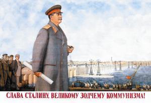 Long Live Stalin, Great Architect of Communism by Boris Belopoliskii