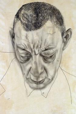 Portrait of the Composer Sergei Rakhmaninov (1873-194), 1930 by Boris Dmitryevich Grigoriev