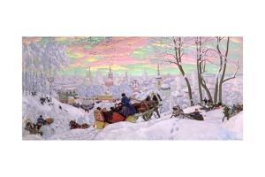 Shrove-Tide, 1916 by Boris Kustodiyev