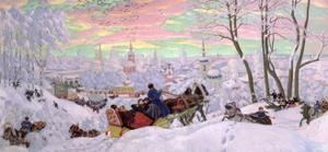 Shrove-Tide, 1916 by Boris Kustodiyev