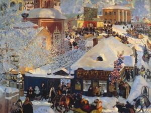 Winter, Carnival Fair, 1919 by Boris Kustodiyev