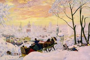 Shrovetide, 1916 by Boris Michaylovich Kustodiev