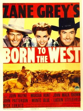 Born to the West, John Wayne, Marsha Hunt, Johnny Mack Brown, 1937