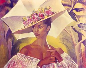 Girl with a Parasol, 1986 by Boscoe Holder