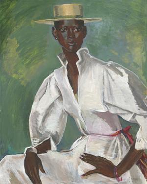 Wearing Boater by Boscoe Holder