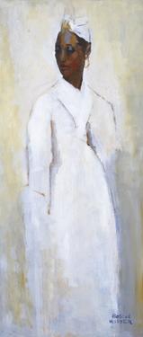 White Dress Black Girl by Boscoe Holder